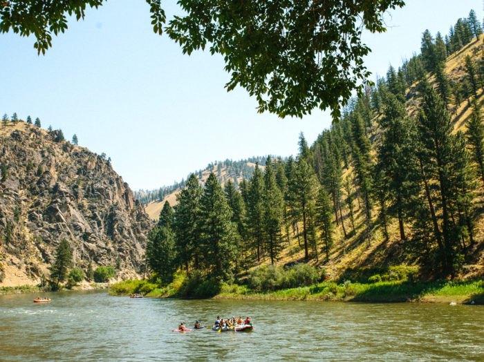 Whitewater Rafting, Salmon River, Near Salmon. Photo Credit: Idaho Tourism.