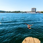 Swimming, Tubbs Hill, Near Coeur d'Alene Resort, Coeur d'Alene. Photo Credit: Idaho Tourism