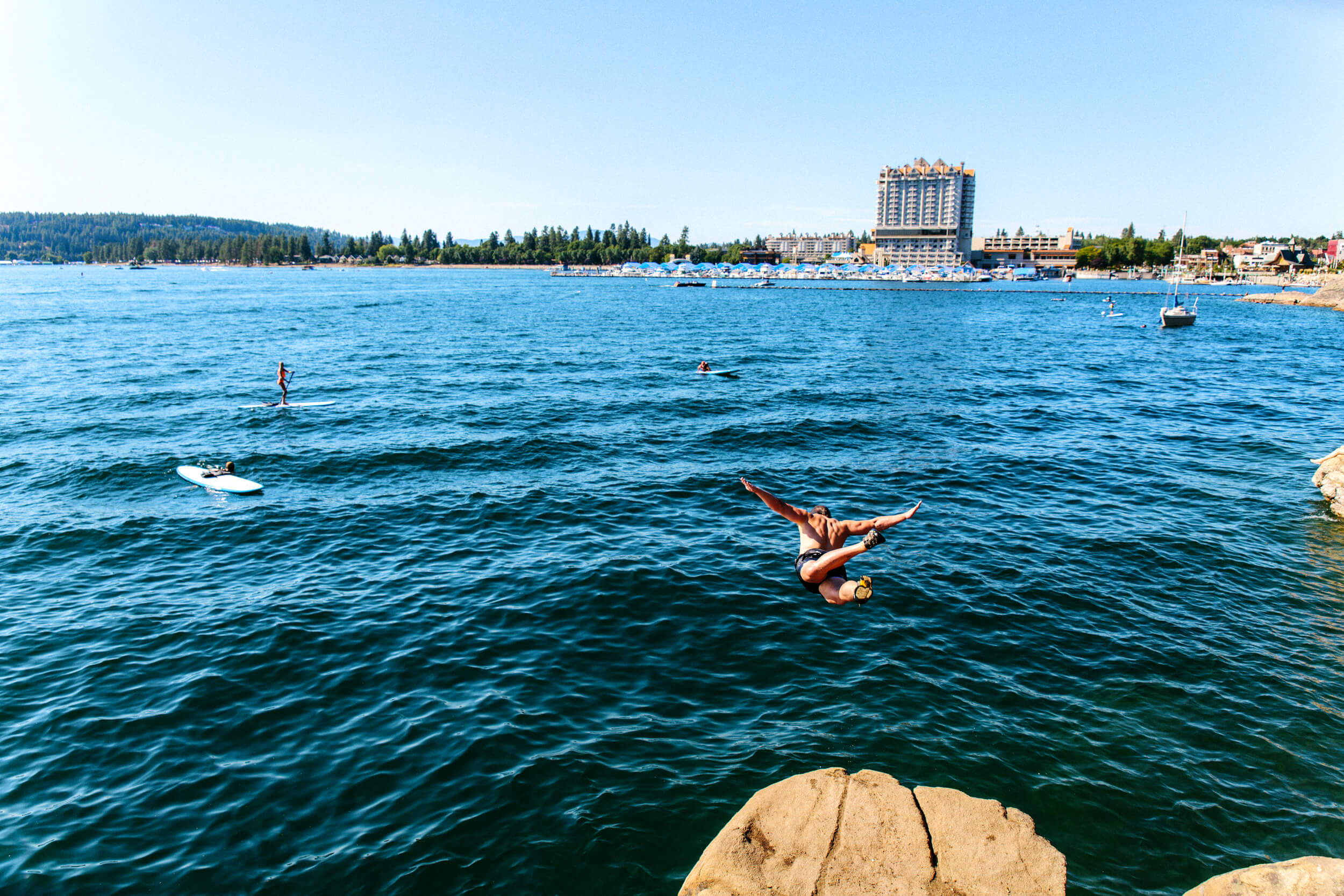 Swimming, Tubbs Hill, Near Coeur d'Alene Resort, Coeur d'Alene. Photo Credit: Idaho Tourism