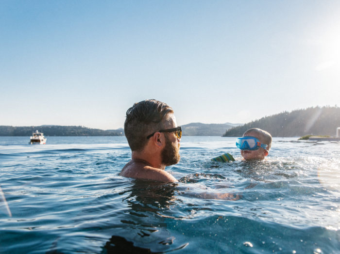 Swimming, Lake Coeur d'Alene, Coeur d'Alene. Photo Credit: Idaho Tourism