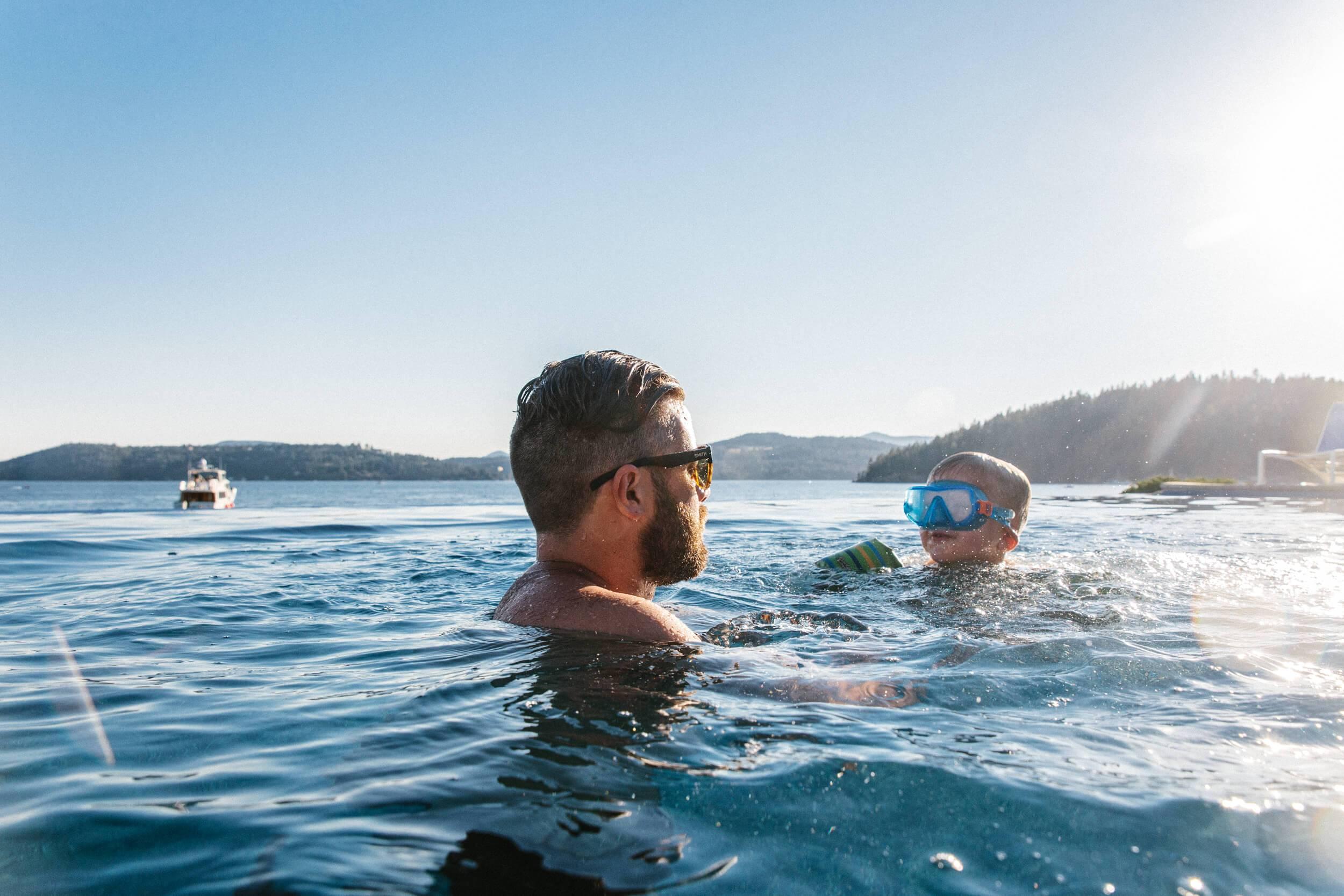 Swimming, Lake Coeur d'Alene, Coeur d'Alene. Photo Credit: Idaho Tourism