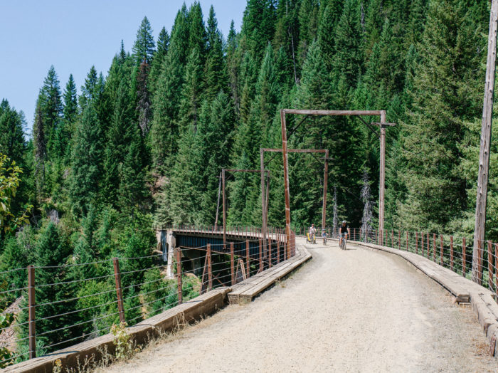 Bike Ride, Route of the Hiawatha, Near Wallace. Photo Credit: Idaho Tourism.