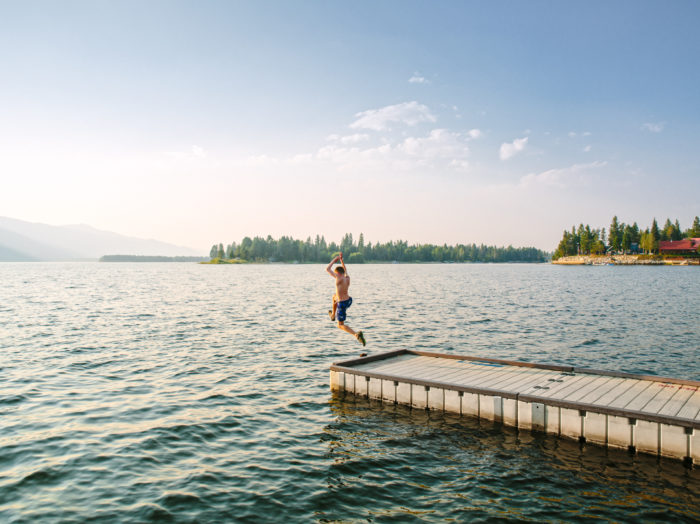Swimming, Lake Cascade. Photo Credit: Idaho Tourism.
