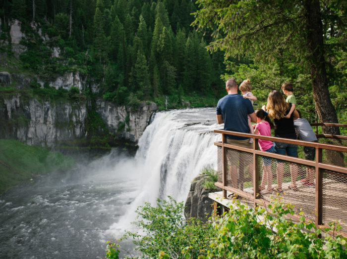 Upper Mesa Falls, Ashton. Photo Credit: Idaho Tourism.