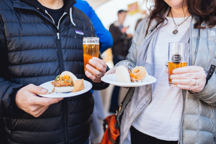 people with food and beer