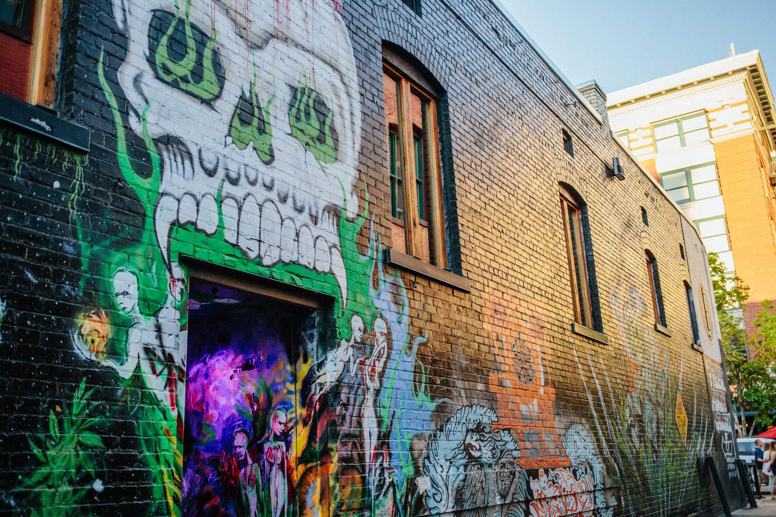 Freak Alley, Boise. Photo Credit: Idaho Tourism.
