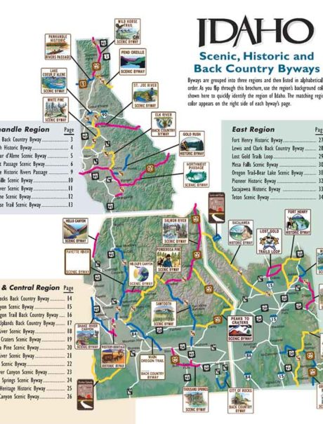 Pioneer Mountains Idaho Map.Maps Publications Visit Idaho