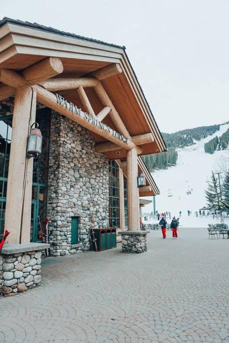 exterior of ski lodge