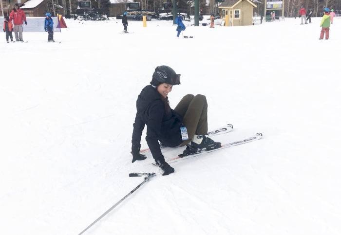 skier on the ground