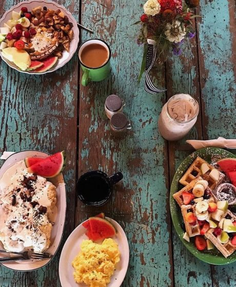food on a table