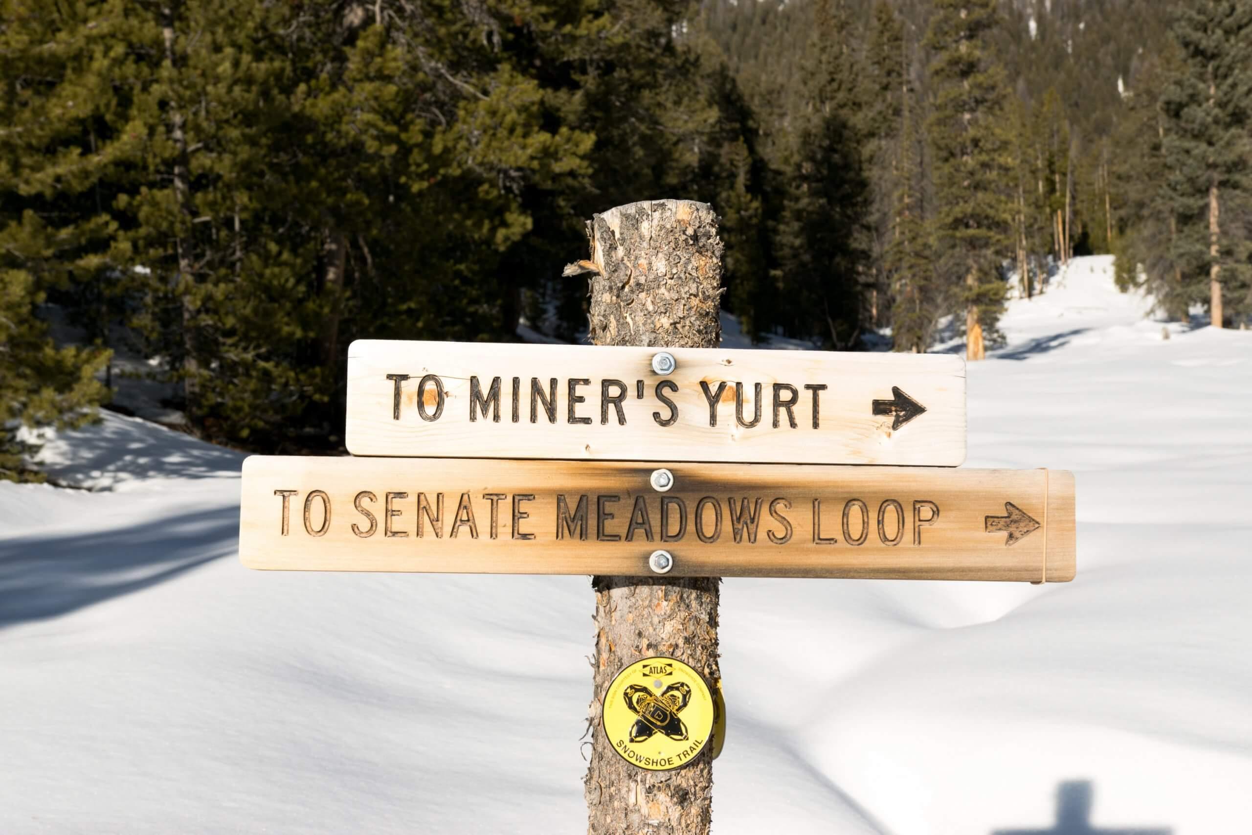 Making our way to Miner's Yurt. Photo Credit: Christina McEvoy.