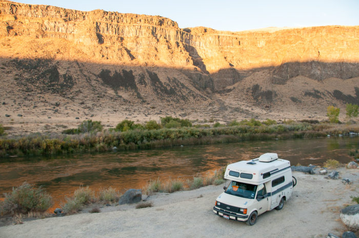 rv near river