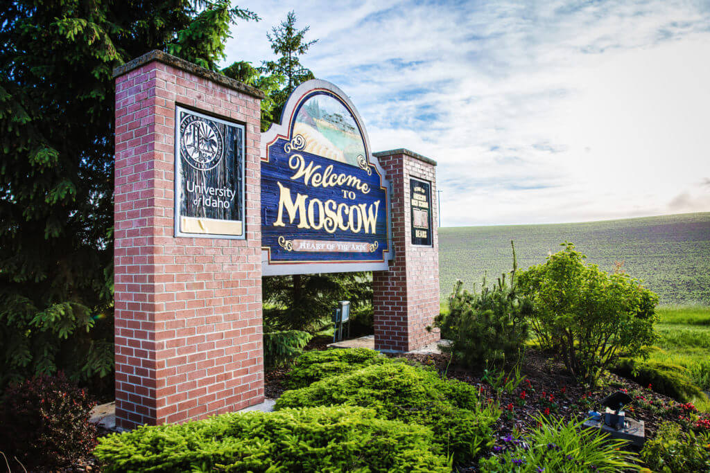 Welcome to Moscow. Photo Credit: Idaho Tourism.