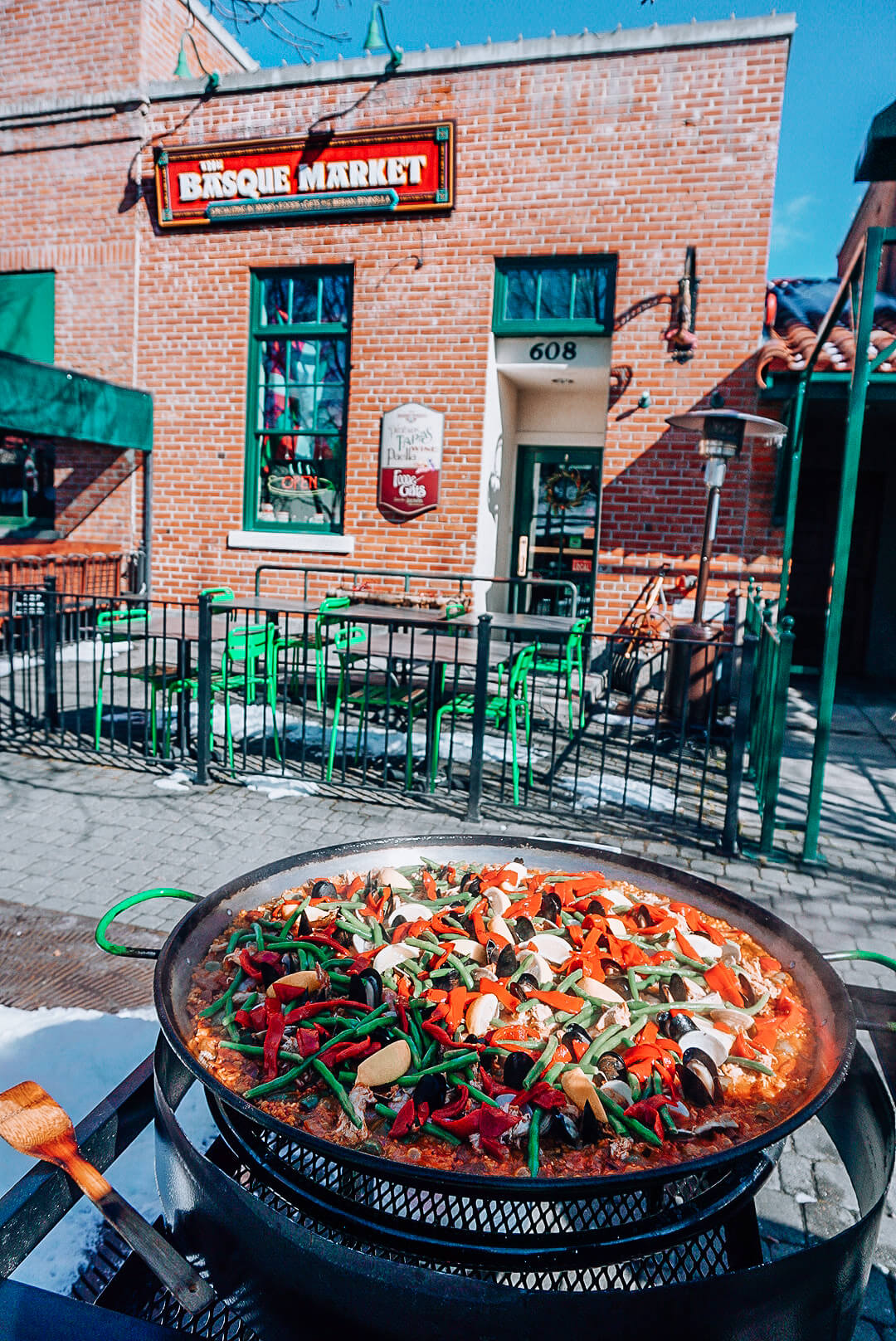 Paella on the Patio is a must-try dish.  Photo Credit: Katie Williams.