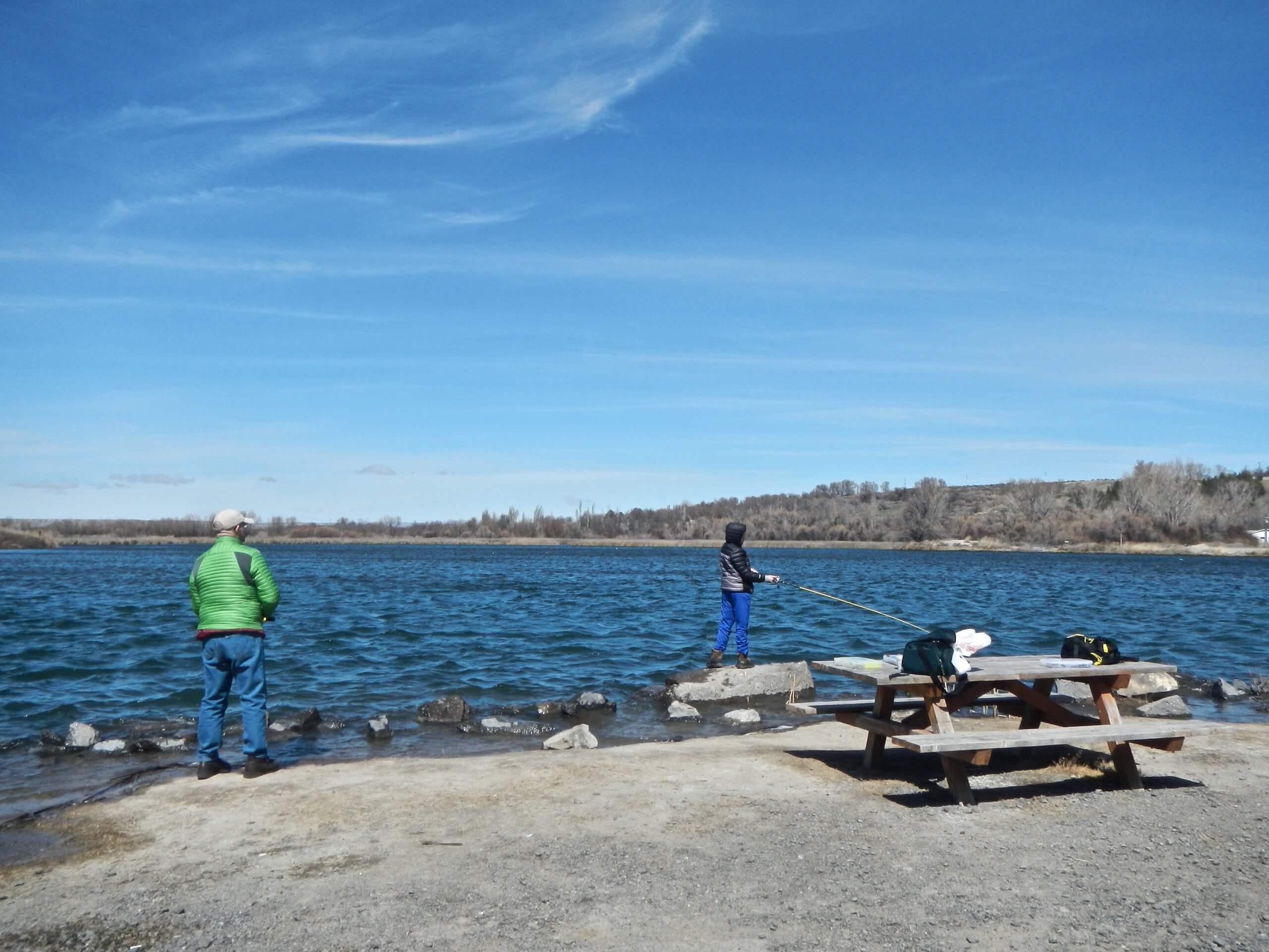 Enjoy year-round fishing at Oster Lakes. Photo Credit: Mike McKenna.