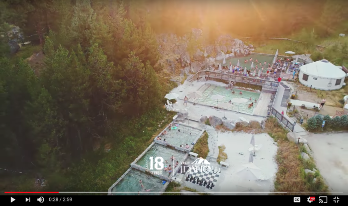 Aerial view of Gold Fork Hot Springs.
