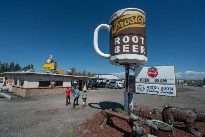 giant mug of rootbeer