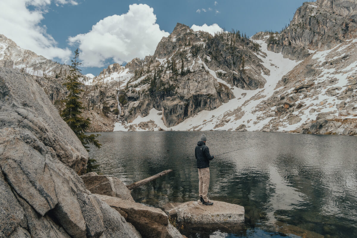 Try your hand at fishing an alpine lake. Photo Credit: Dusty Klein.