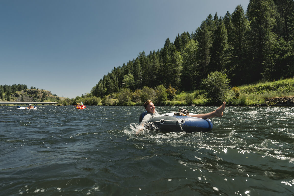 The city of Warm River was the perfect spot to start our second float day. Photo Credit: Nick Lake.