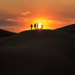 Sunset atop the dunes. Photo Credit: Nick Lake.