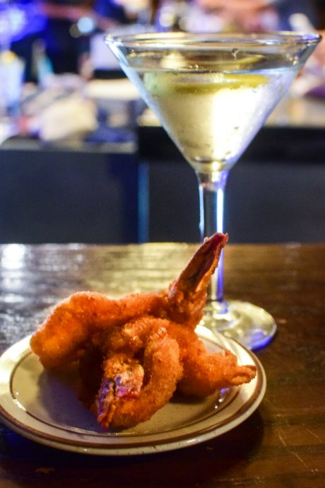 cocktail and shrimp