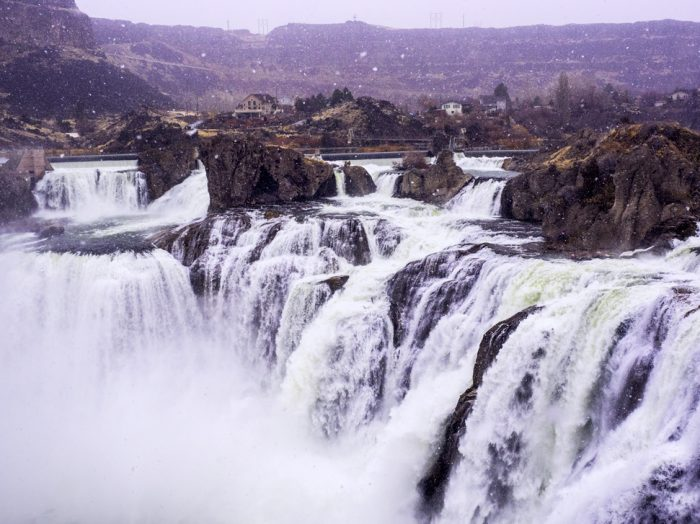 Shoshone Falls is stunning in any season. Photo Credit: Local Freshies.