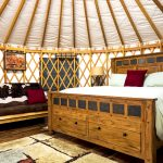Snuggle up in the Willow Glamping Yurt. Photo Credit: Local Freshies.