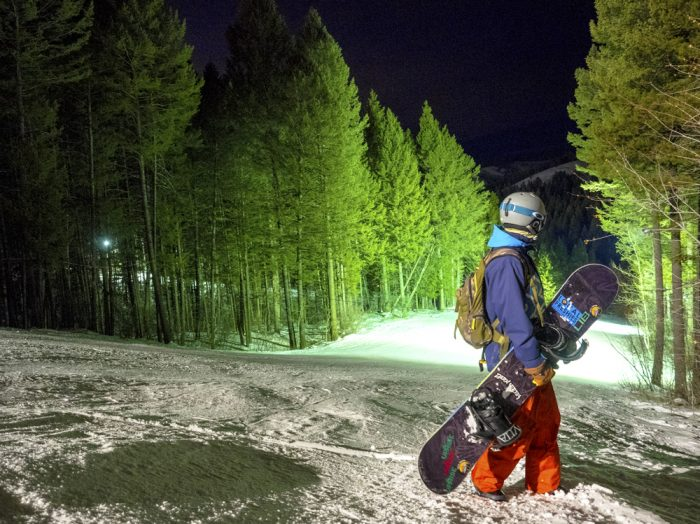 Night skiing is primo at Kelly Canyon. Photo Credit: Local Freshies.