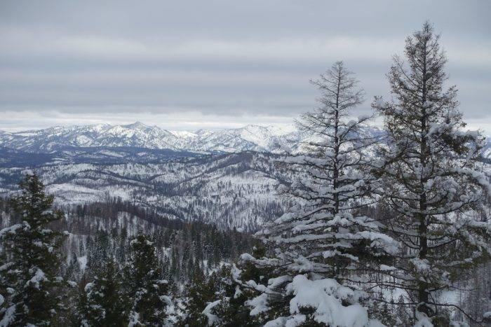 snow mountain trail