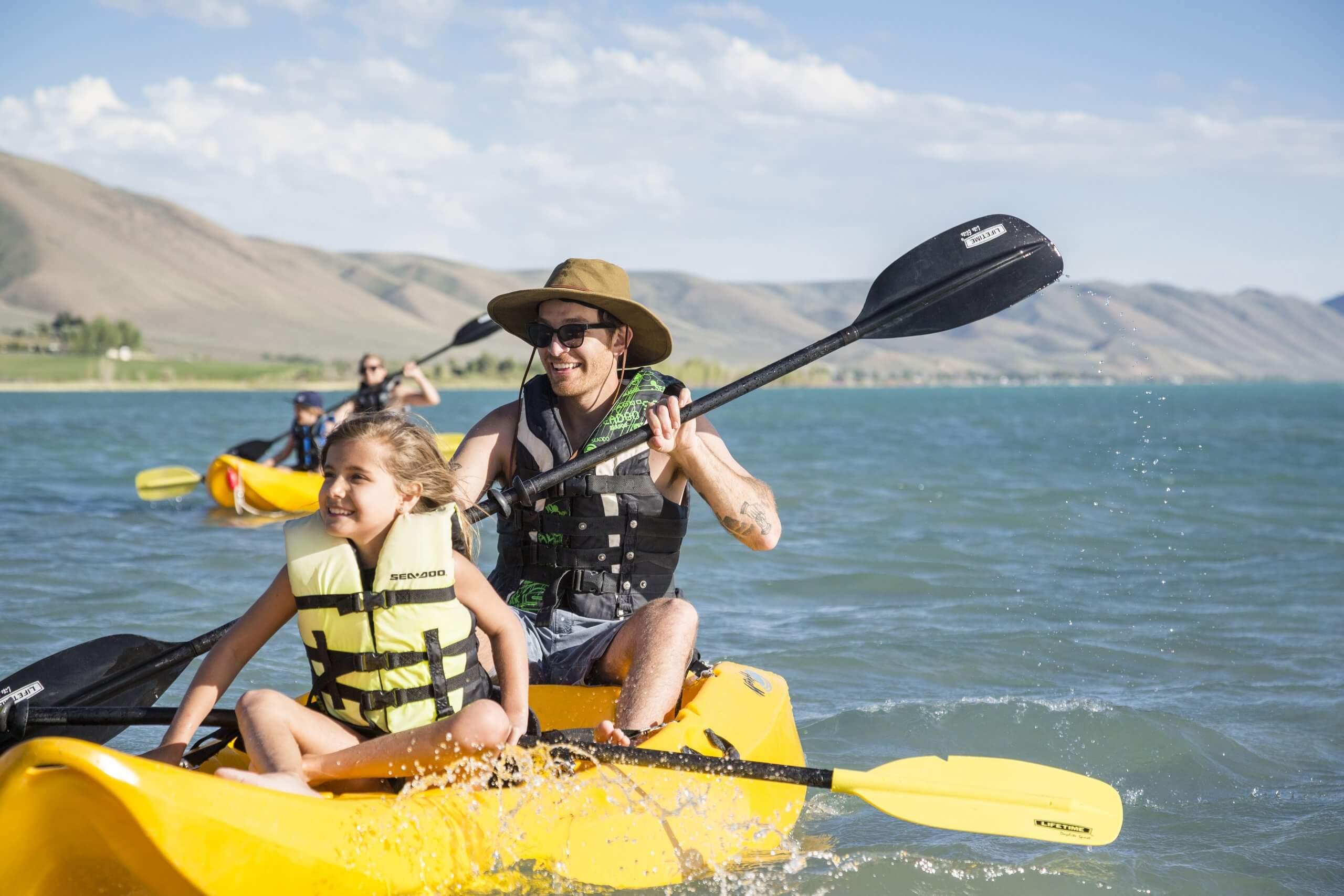 Kayaking, Bear Lake State Park, St. Charles. Photo Credit: Idaho Tourism.