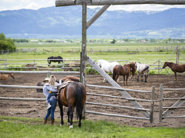 Horseback Riding, Linn Canyon Ranch, Near Victor. Photo Credit: Idaho Tourism.