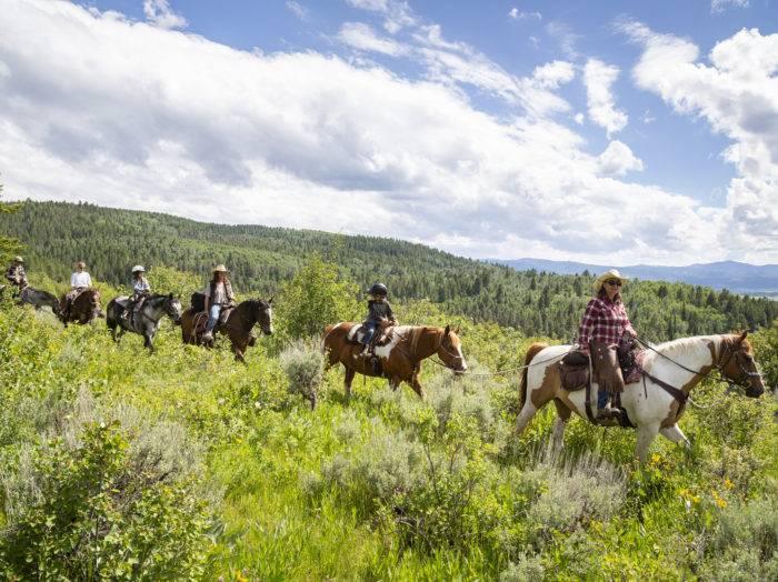 Horseback Riding, Linn Canyon Ranch, Near Victor. Photo Credit: Idaho Tourism.