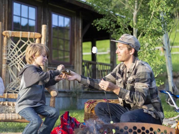Camping, Linn Canyon Ranch, Near Victor. Photo Credit: Idaho Tourism.