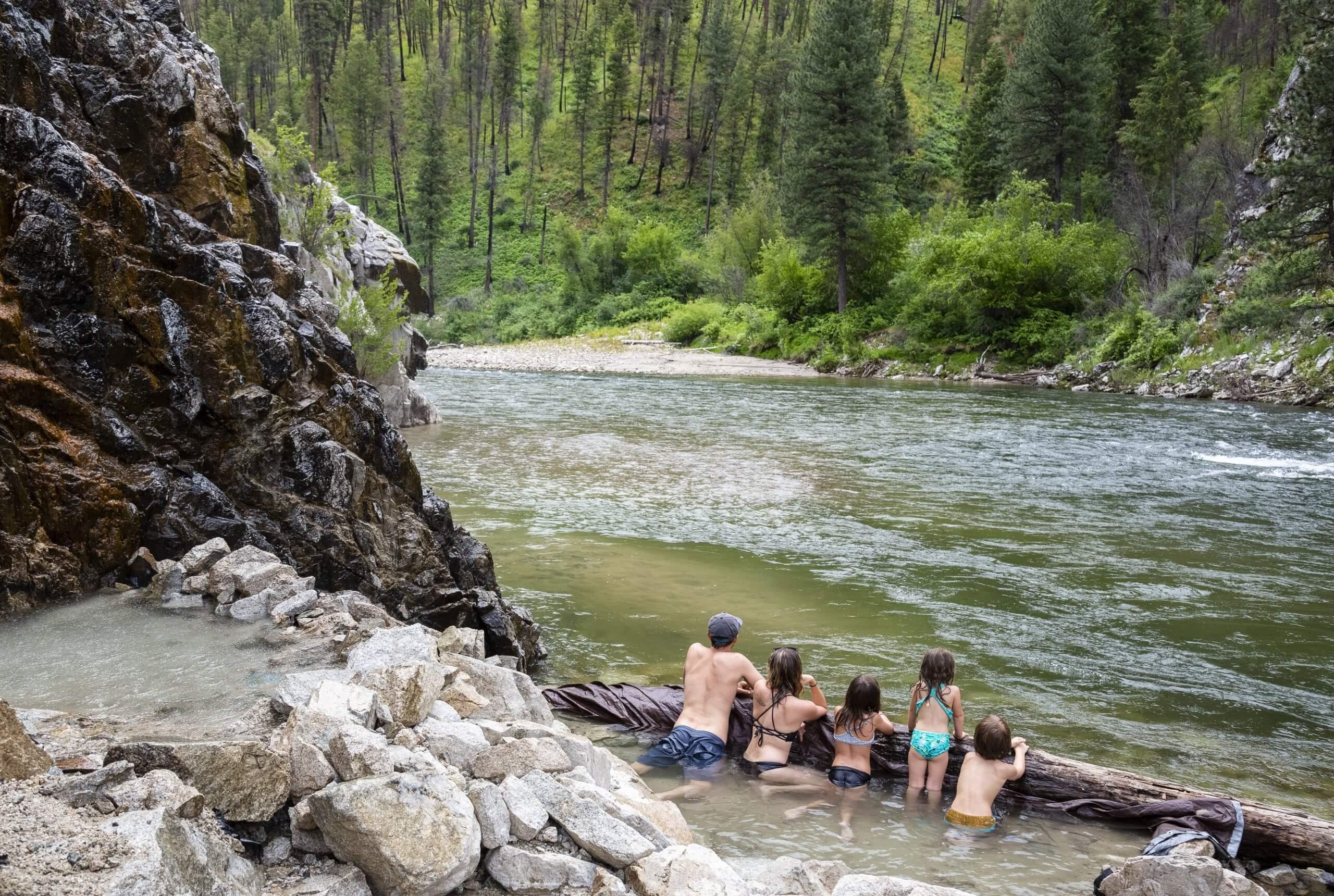 Pine Flats Hot Springs, Near Lowman. Photo Credit: Idaho Tourism.