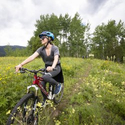 Mountain Biking, Tamarack Resort. Photo Credit: Idaho Tourism.