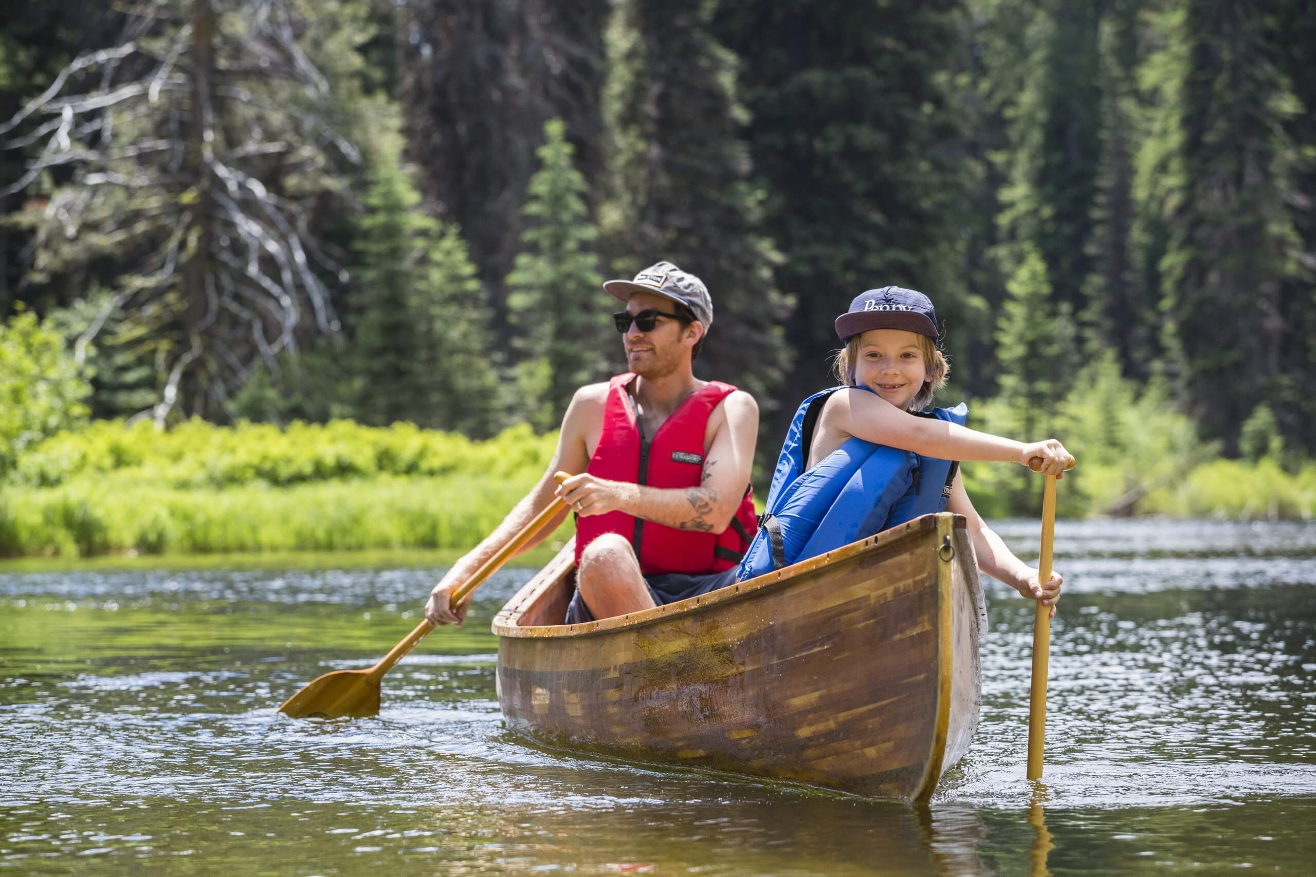 Canoeing, Upper North Fork of the Payette River, Near McCall. Photo Credit: Idaho Tourism.