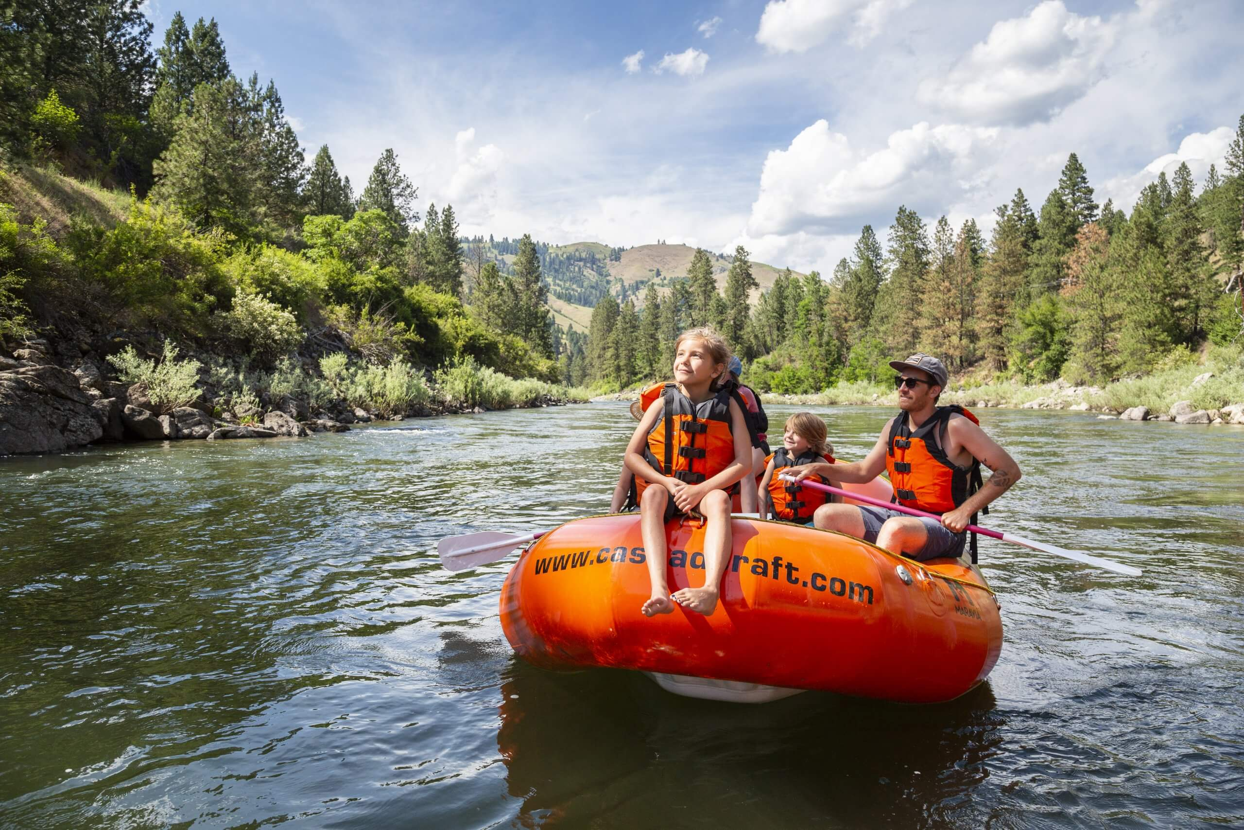Rafting, Payette River, Near Banks. Photo Credit: Idaho Tourism.