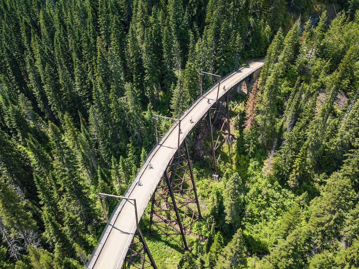 Bike Ride, Route of the Hiawatha, Near Wallace. Photo Credit: Idaho Tourism.