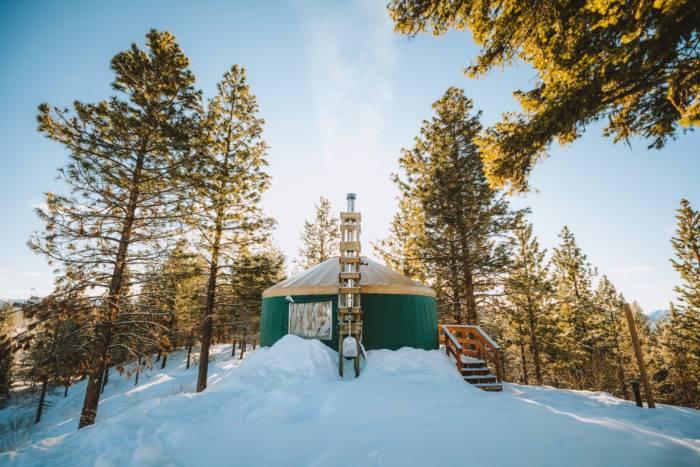 snowy yurt