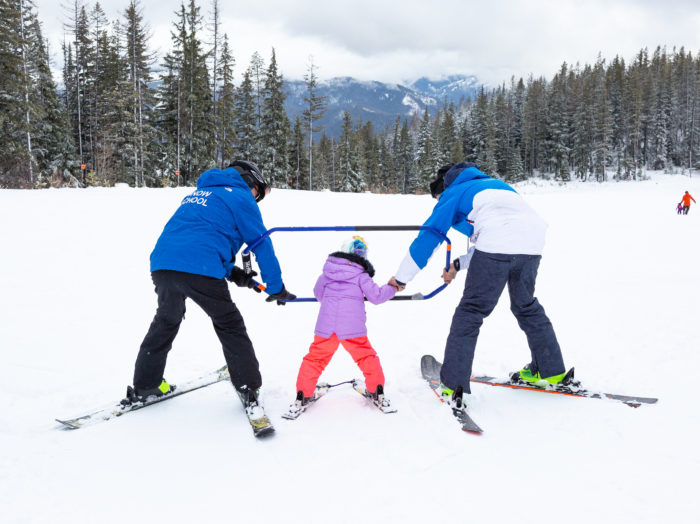 Getting a feel for the skis. Photo Credit: Jade Broadus.