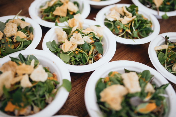 plates of leafy greens
