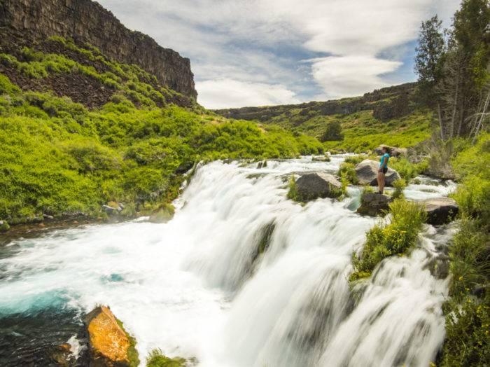 Explore hiking trails at Box Canyon. Photo Credit: Idaho Tourism.
