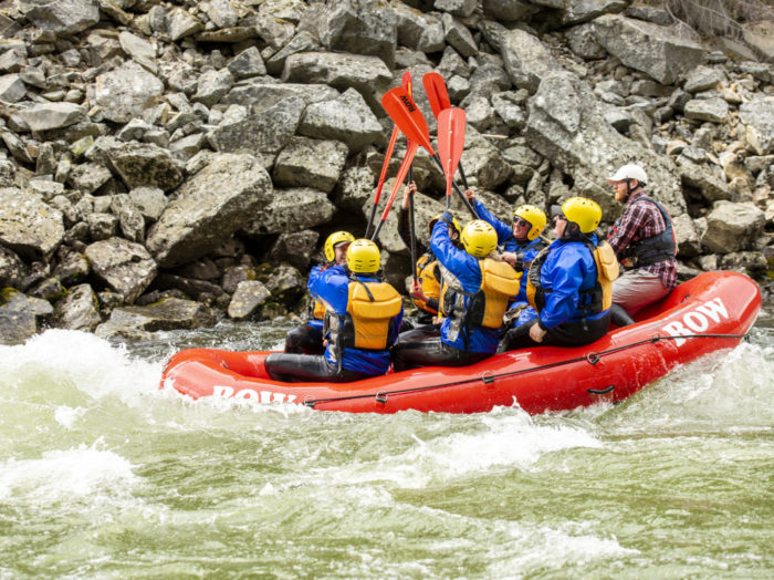 Rafting, Lochsa River, near Kooskia. Photo Credit: Idaho Tourism.