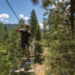Tree to Tree Adventure Park, near Athol. Photo Credit: Idaho Tourism.