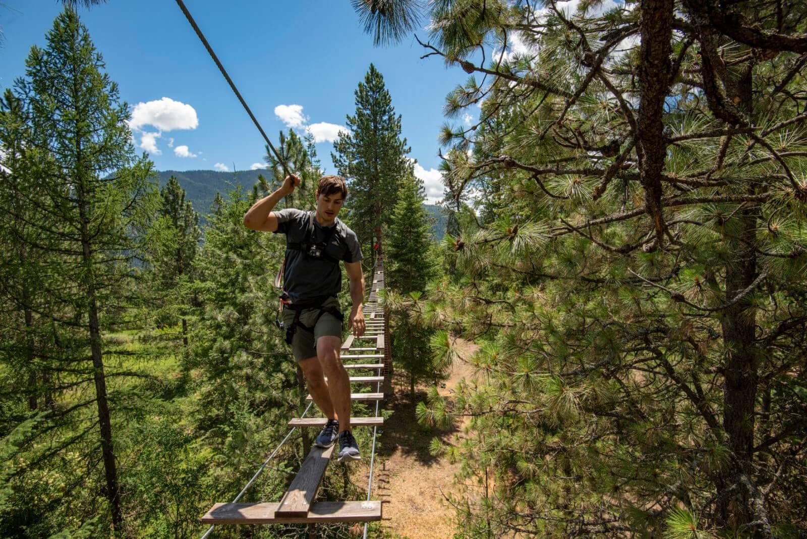 Tree to Tree Adventure Park, near Athol. Photo Credit: Idaho Tourism.