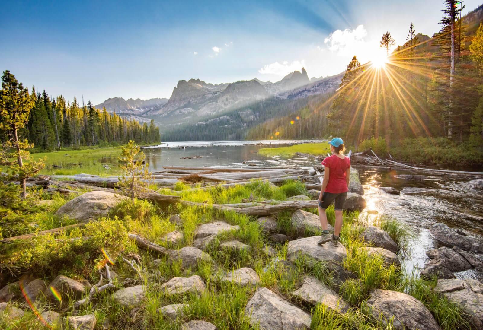 Hell Roaring Lake, Sawtooth National Recreation Area, near Stanley. Photo Credit: Idaho Tourism.