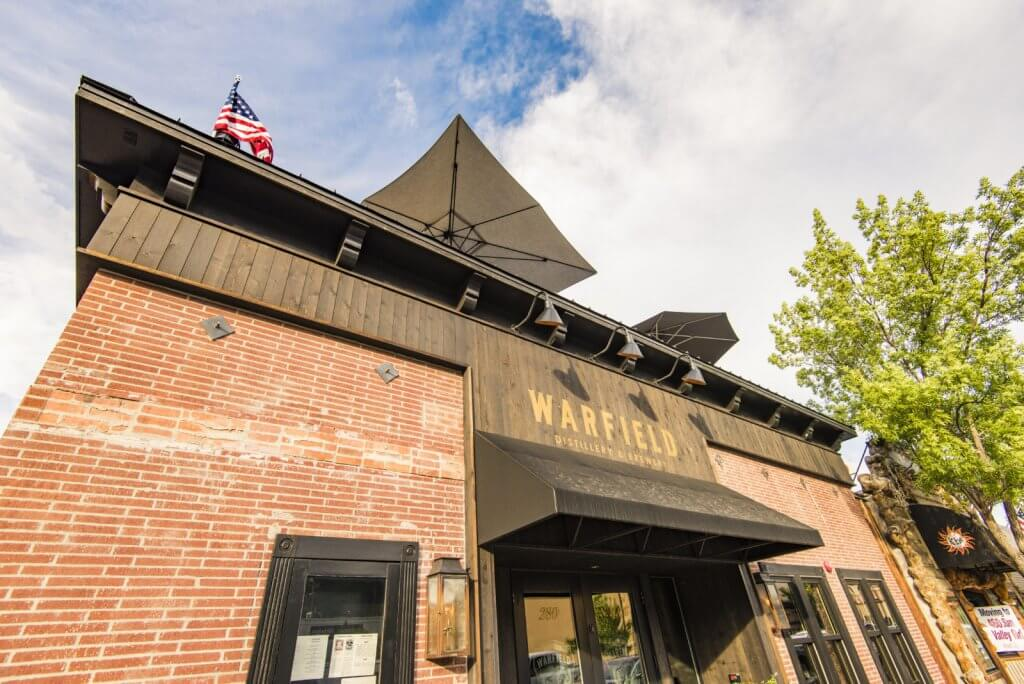 front view of warfield distillery & brewery