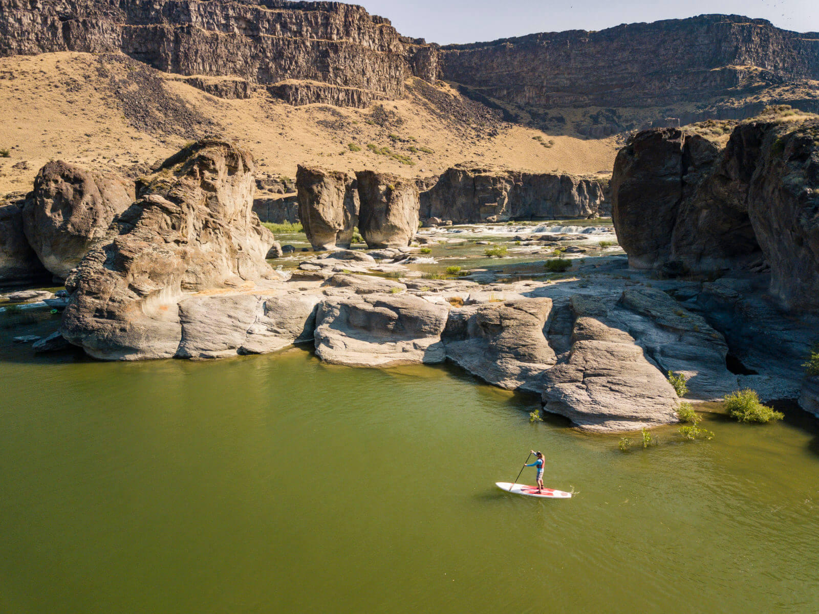 Pillar Falls is one of the stops on the way to Shoshone Falls. Photo Credit: Idaho Tourism.