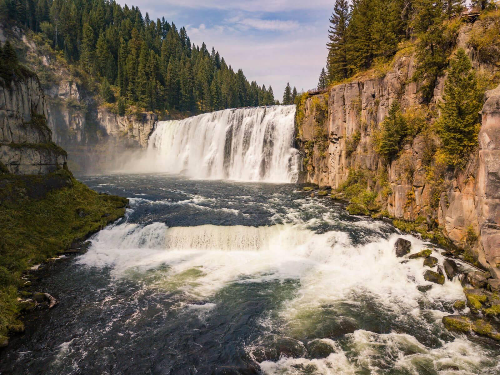 Upper Mesa Falls, near Ashton. Photo Credit: Idaho Tourism.