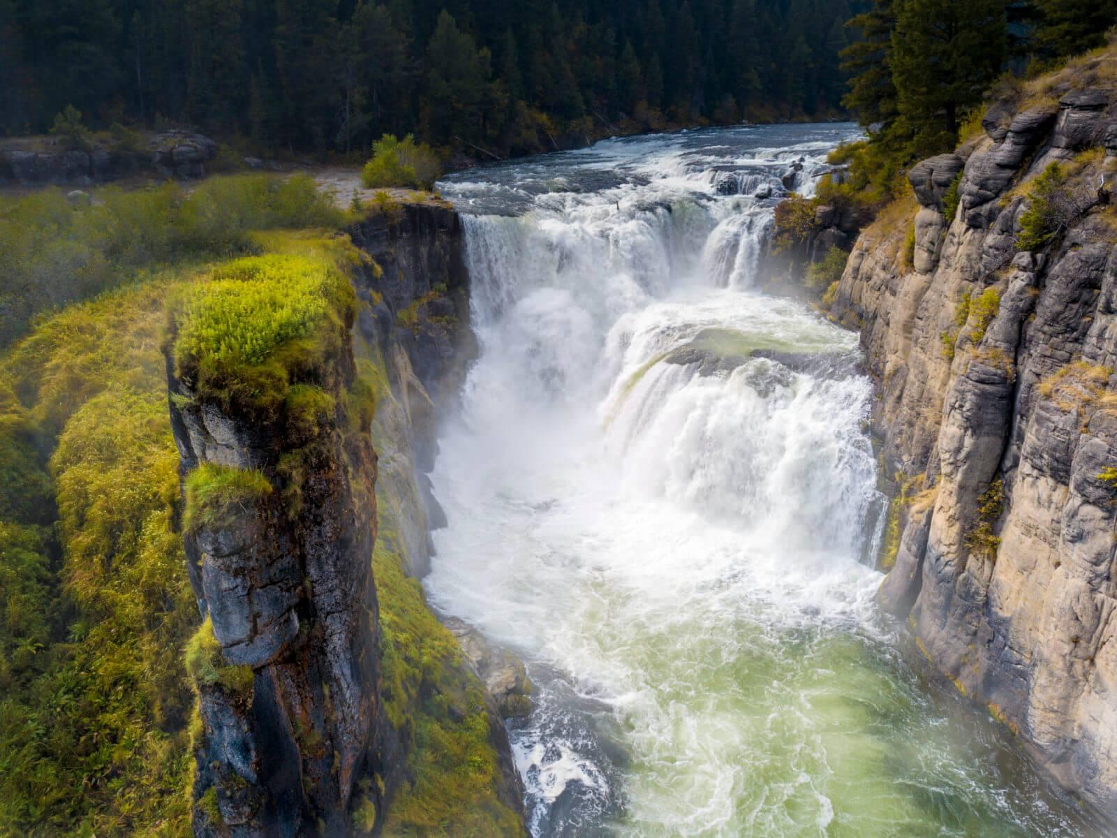 Lower Mesa Falls, near Ashton. Photo Credit: Idaho Tourism.